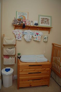 It's not a corner, but anyway. I like how this came together. We don't use it much right now because the baby doesn't sleep in this room yet, so it's easy to keep neat.     I love this!! Awesome  picture