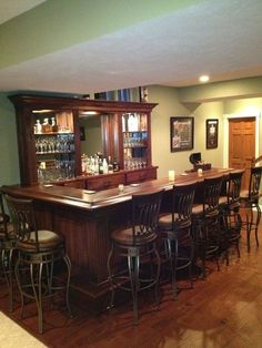 Would love to have this in my living room! Black Walnut Home Bar Home Bar Rooms, Home Bar Decor, Home Goods Decor, Pub Decor, Basement Bar Designs, Home Bar Designs, Basement Ideas, Basement Bars, Bar Under Stairs