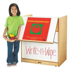 Find out more about the Jonti-Craft®Big Book Display Cart today! Mobile storage for big books, puppets and more. Write-n-Wipe folding easel to display big books. School Furniture, Kids Furniture, Furniture Plans, Book Display Stand, Book Displays, Wipe Board, Mobile Storage, Book Storage, Storage Cart