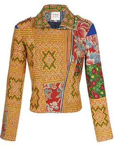 Shop for THU THU Exclusive: Tribal embroidered biker jacket at ShopStyle. Nomad Fashion, Fashion Design, Asos Fashion, Blouse Batik, Brown Fashion, Models, Jacket Style, Sewing Clothes, Colorful Fashion