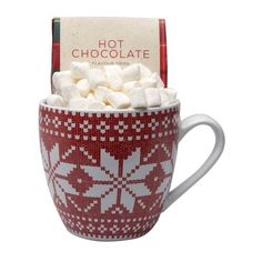 Festive Hot Chocolate Mug ($13) ❤ liked on Polyvore featuring home, kitchen & dining, drinkware, christmas drinkware and christmas mugs