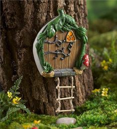Main image for Miniature Fairy Garden Solar Door with Ladder