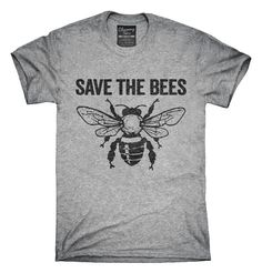 You can order this Save The Bees Colony Collapse t-shirt design on several different sizes, colors, and styles of shirts including short sleeve shirts, hoodies, and tank tops.  Each shirt is digitally printed when ordered, and shipped from Northern California.