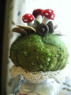 Mushrooms... on a salt/pepper shaker by woolly  fabulous, via Flickr