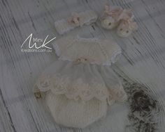 Mohair & Lace 4 piece set to fit 9 inch doll [fits wee patience]
