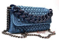 puff stich zig zag ....crochet bag...versatile chain