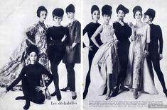 Christian Dior - Yves Saint-Laurent Printemps 1960, Photo William Klein
