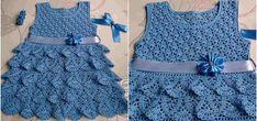 Crochet – Page 5 – Craft Ideas Crochet Girls, Crochet Baby Clothes, Baby Patterns, Crochet Patterns, Crochet Ideas, Clothing Hacks, Cute Dresses, Baby Dresses, Crochet Crafts
