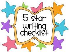 Kindergarten 5 Star Writing Display Rubric - Beginning Writing