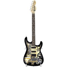Woodrow Guitars NFL 10-In Mini Guitar Collectible New Orleans Saints