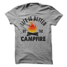 Description Life is better by the campfire T-Shirt, camping T-Shirt, happy camper T-Shirt, Women's T-Shirt, Men's T-Shirt, Hoodie, Funny T-Shirt Men's / Unisex T-Shirt So light and soft, you'll fall i