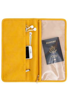 Gili Cottage Surrounded By Forest Travel Passport /& Document Organizer Zipper Case