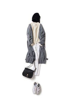 Kyoko Kikuchi's Closet | 白+白をカジュアルにラフにアレンジ