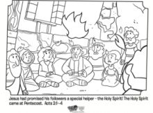 Peter Preaching At Pentecost Coloring Pages border=