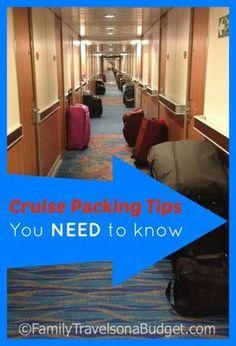 Cruising 101- Cruise Packing Tips you need to know! #cruisepacking