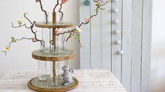 Patrica Morgenthaler stellt diesmal eine pfiffige Upcycling-Idee vor. Aus alten Flaschen und Holzbrettchen wird eine tolle Flaschen-Etagere. Eine schöne Dekoration für Hochzeiten, Gartenpartys oder Geburtstagsfeiern.