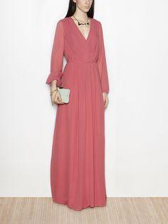 Plain silk maxi dress | Hoss Intropia Denmark