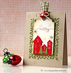 Simon Says Stamp Die-Cember blog hop card by Wanda Guess!  #SSSFAVE