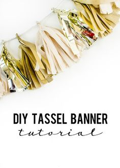 DIY Metallic Tassel Banner