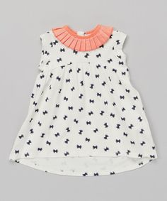 White Bow Tie Yoke Dress - Infant by French Connection #zulily #zulilyfinds