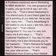 Best marketing explanation!