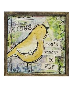 Loving this 'Don't Forget to Fly' Framed Print on #zulily! #zulilyfinds