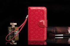 Leather Louis Vuitton iPhone X/8/7/6S/Plus Case Strap Red