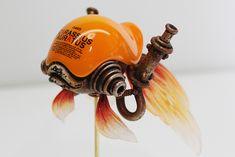 "Michihiro Matsuo , Playful Steampunk Sculptures """"Michihiro Matsuo is a Japanese artist really inspired in steampunk, his creatures sculptures are halfway between the industrial revolution and science. Toy Art, Motion Design, Arma Steampunk, Robot Animal, Modelos 3d, Robot Design, Design Art, Vinyl Toys, Designer Toys"