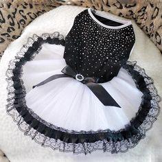 Dog Bling Bling Tutu Dress Lace Dress Clothes Party Dress Cute Pet Cat Princess Large Pint