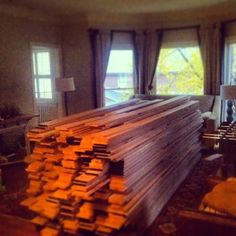 Blog post- JUST SAY NO...To carpet! A sample of our hardwood project.