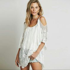 Lace Bikini CoverUp Great quality , simple and  Classy. Soft Lace Material.  Great quality  *Fixed Price* Swim Coverups