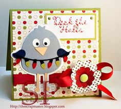 Use your 3 Birds on Parade #Cricut Cartridge to make this card.