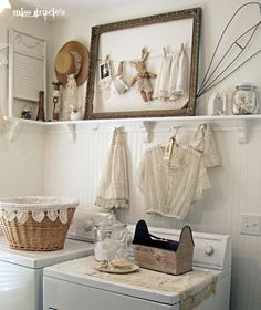 I love Renee's Blog: Miss Gracie's House!  I'm a regular visitor there!  This laundry room would be a dream...and if you saw my laundry room, you would agree.