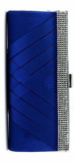 Sapphire and silver clutch Fashion Colours, Blue Fashion, Colorful Fashion, Blue Clutch, Silver Clutch, Blue And Silver, Silver Color, Dark Blue, Azul Real