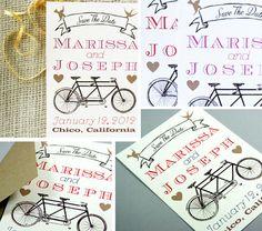 Bike theme save the dates