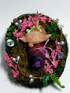 OOAK Faerie Forest Baby Trollfling Troll doll bundle by Amber Matthies
