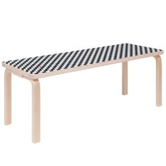 New York streetwear brand Supreme has released a special-edition version of a three-legged stool originally designed by Alvar Aalto in the 1930s. The brand has updated the modernist designer's iconic Stool 60, adding a bold chequerboard graphic and the Supreme box logo to its circular seat. A version of the Aalto Bench 153A is also included in the brand's Spring Summer 2017 collection. The stackable Stool 60 has been in continuous production since 1933 and is now manufactured by Artek.