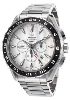 Omega Men's Sea Master Aqua Terra GMT Auto Chrono SS White Dial - Watch 231.10.44.52.04.001,    #Omega,    #231.10.44.52.04.001,    #WatchesLuxuryAutomatic