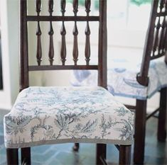 How To Make A Side Chair Slipcover