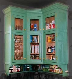 Corner Kitchen Cabinet; Corner Cabinets and Idea for Space Saving