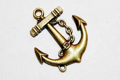 5 pcs. anchor pewter alloy pendant antique by sedonastonesllc, $1.75