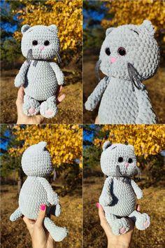 CROCHET CAT PATTERN - Amigurumi Stuff Plush kitten - Crochet animal pattern