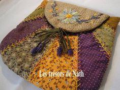 Kit pochette brodée - kits - Les trésors de Nath - Fait Maison