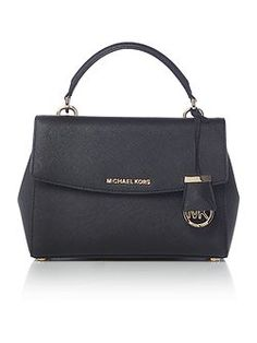 Ava black small satchel bag
