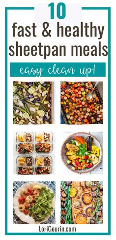 Looking for quick dinner ideas? Here are 10 healthy sheet pan dinners that are delicious, easy to prep, and cleanup. Including chicken, fajitas, shrimp, sausage, and veggies. #sheetpanmeals #sheetpandinnners #sheetpanchicken #sheetpanfajitas #sheetpanshrimp One Dish Dinners, One Pot Meals, Garlic Ginger Chicken, Dinner Ideas, Dinner Recipes, Chicken Eating, Half Baked Harvest, Chicken Fajitas, Healthy Recipes
