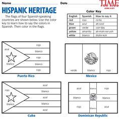 Printables for Hispanic Heritage Month | TIME For Kids