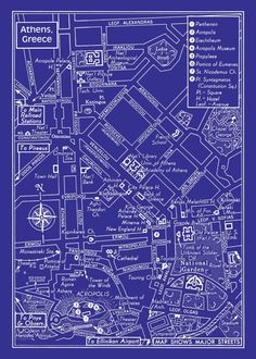   Athens map of 1957