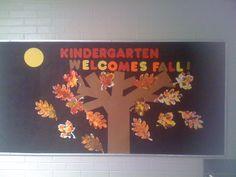 Fall Bulletin Board...kids made the leaves