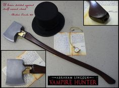 The 'AxeGun' in Abraham Lincoln Vampire Hunter was built as a fully working model. It's a shotgun, and Ben Walker got to fire it on set. This mock up doesn't include the bayonet. Tim Burton, Abraham Lincoln Vampire Hunter, Weapon Concept Art, Victorian Steampunk, Fantasy Weapons, Monster Hunter, Sculpture, Zombie Apocalypse, Guns