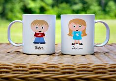 Custom Kidlet Mug Personalized Melamine Plastic Made to Look Like Your Child